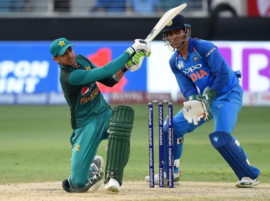 Shoaib Malik plays a shot. PHOTO: AFP