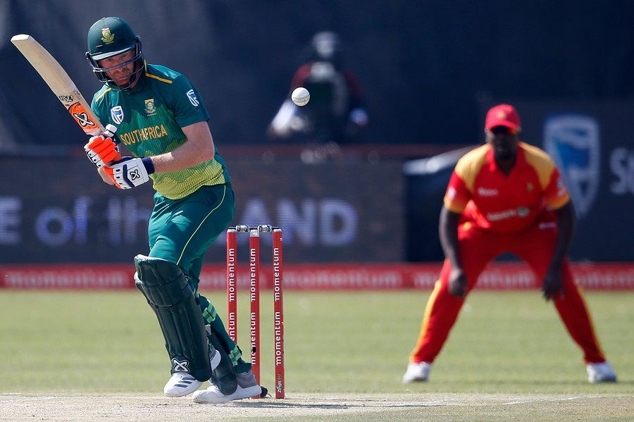 South Africa's Heinrich Klaasen bats. PHOTO: AFP