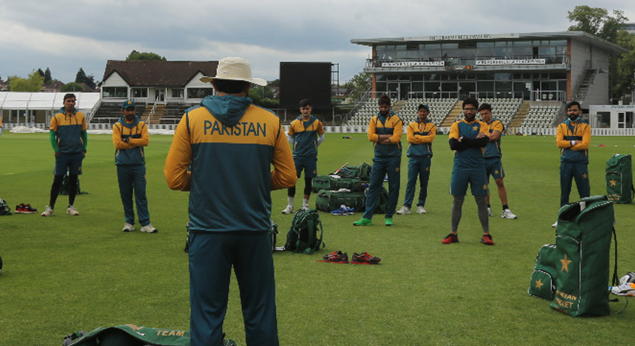Pakistan team training session in Worcestershire
