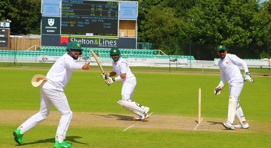 Pakistan's second intra-squad practice match in Worcester