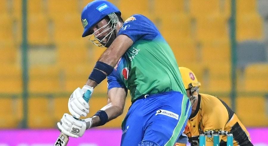 Sohaib Maqsood scored 61 runs off 31 balls against Peshawar Zalmi