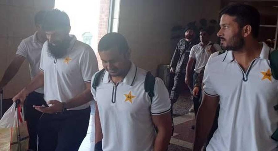 قومی ٹیم ٹی ٹوئنٹی سیریز کیلیے لاہور پہنچ گئی
