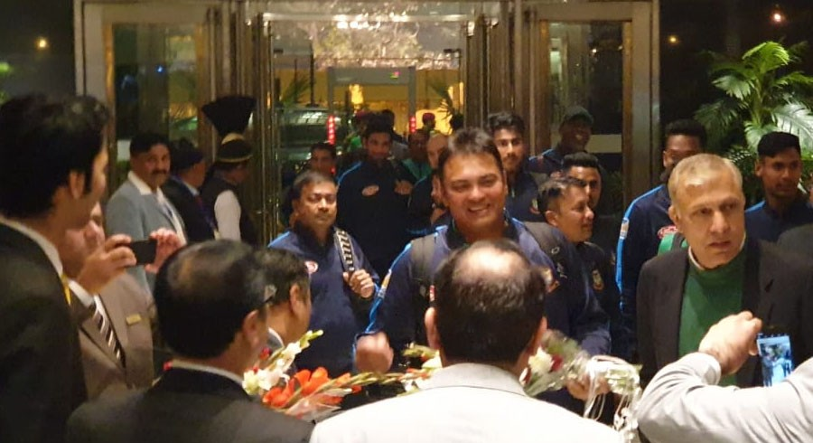 Bangladesh team arrives in Pakistan for T20I series