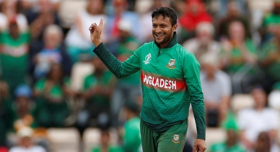 Banned cricket hero Shakib auctions bat for Bangladesh virus victims