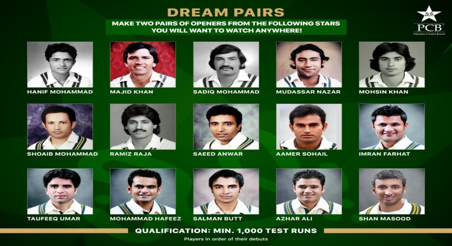 Pakistan cricketers name their 'dream' opening pairs