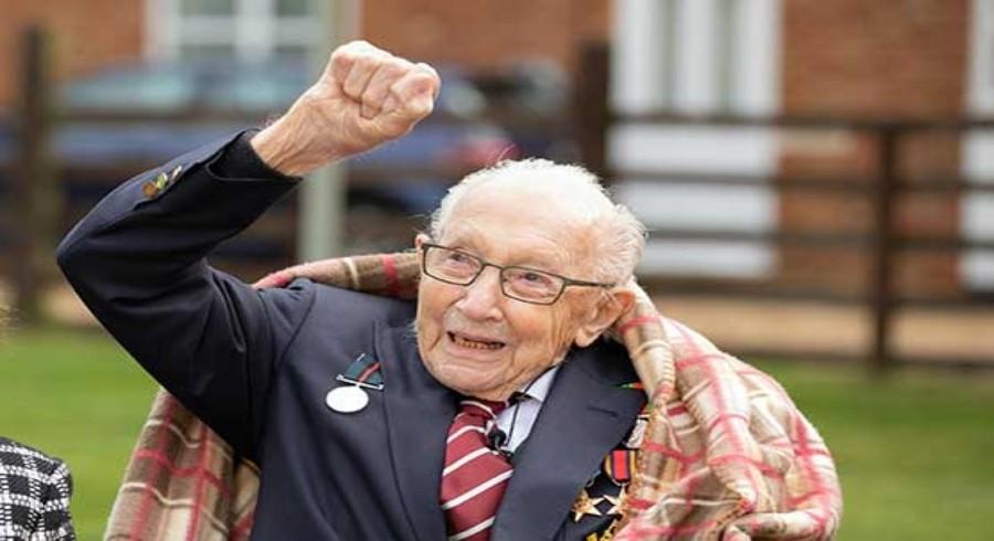 Captain Tom made honorary member of England team on 100th birthday