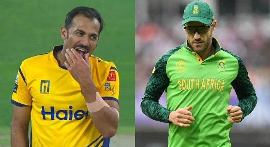 Wahab Riaz hails 'complete package' Faf du Plessis ahead of PSL playoffs