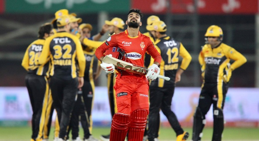 Islamabad United's batting crumbles against fiery Peshawar Zalmi bowling attack