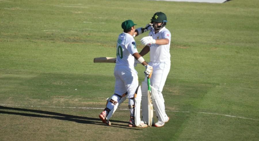 Late wickets dent Pakistan despite Azhar, Abid centuries