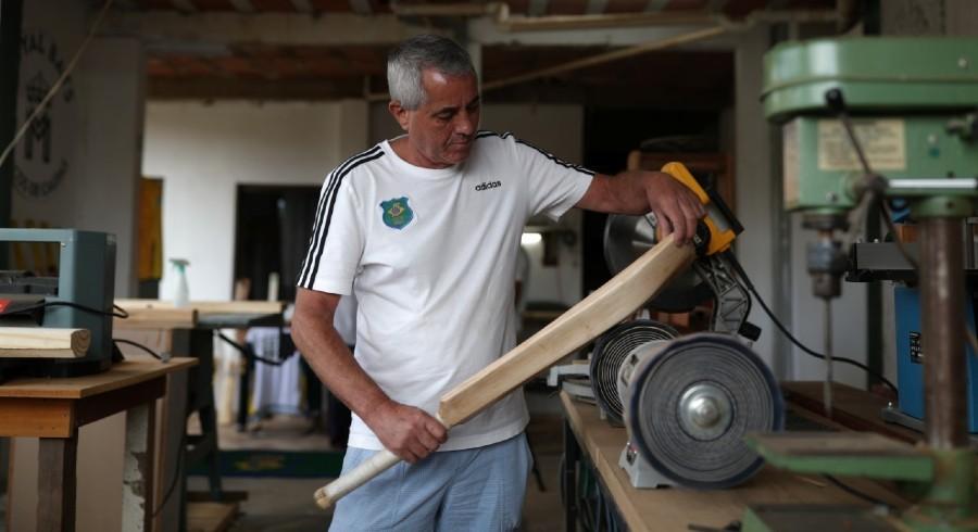 Brazil's answer to cricket bat shortage? Make their own!