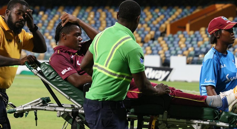 Two Windies cricketers taken to hospital after collapsing during Pakistan T20I