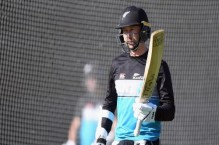 New Zealand batsman warms up for India with kitty litter on pitch