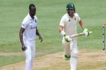 Elgar leads from front as South Africa recover against Windies